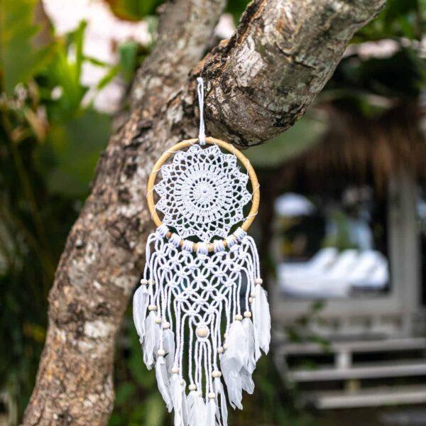 Mały łapacz snów ręcznie robiony na Bali