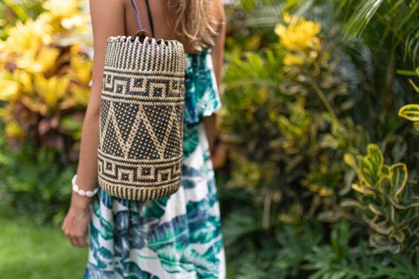 Plecak ręcznie robiony rattanowy z wyspy Bali