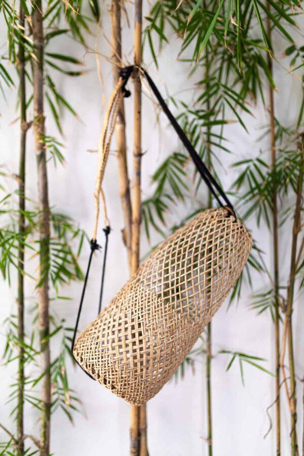 Recznie robiony rattanowy plecak z Borneo Boho