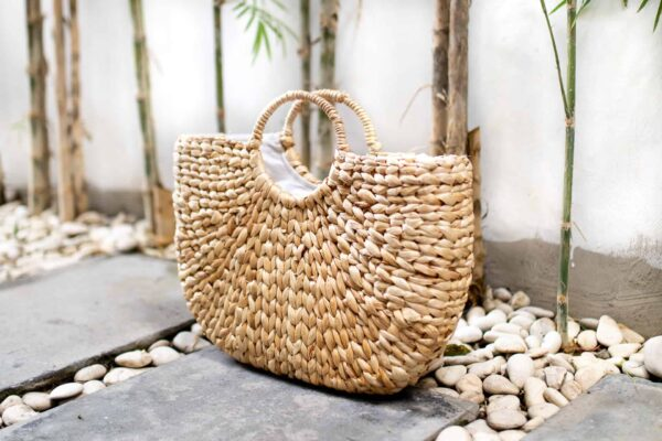 Ręcznie robiona torebka koszyk na lato