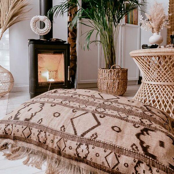 poszewka na poduszke z juty