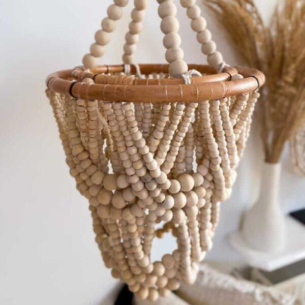 beżowy koralikowy żyrandol kuleczki