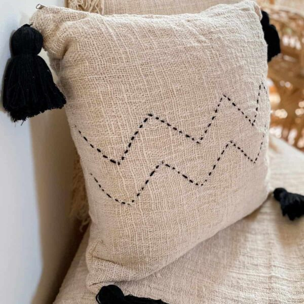 poszewka na poduszke z surowej bawełny