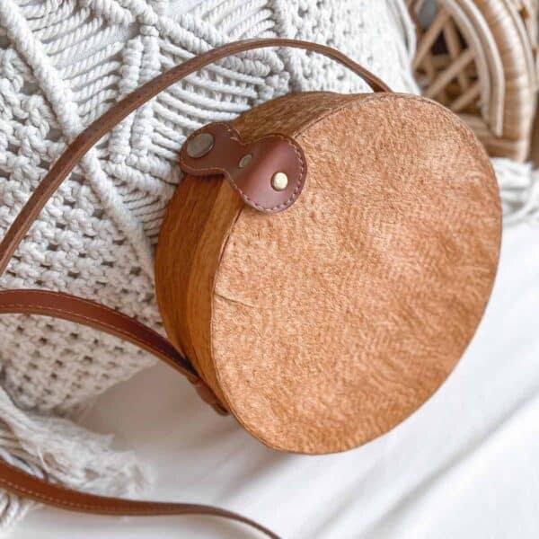 Bali torebka okrągła rattanowa