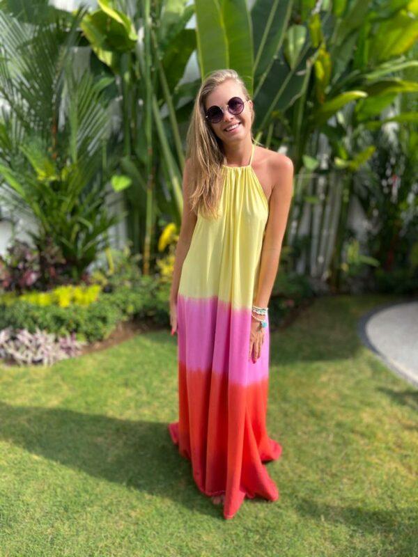 kolorowa sukienka tęcza