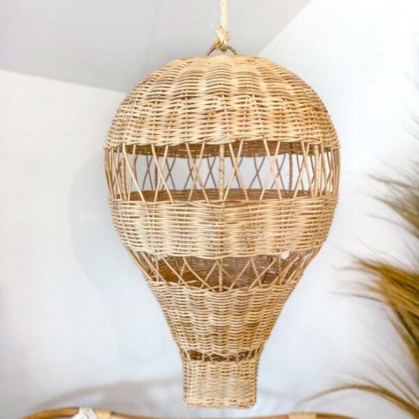 lampa rattanowa balonik