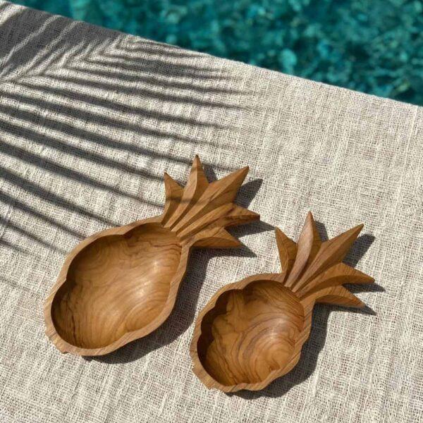 miseczki ananasowe teak