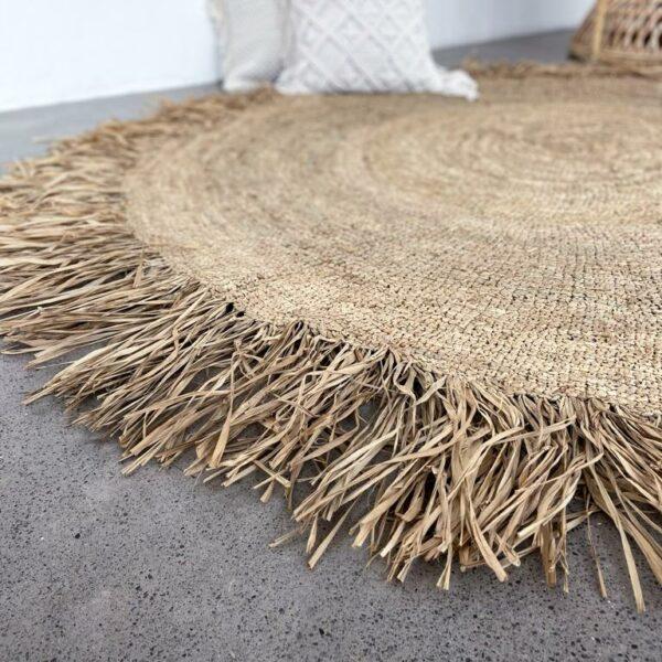 dywan słomkowy z rafii