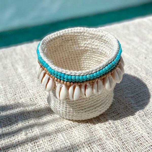 koszyczek bawełniany na biżuterię